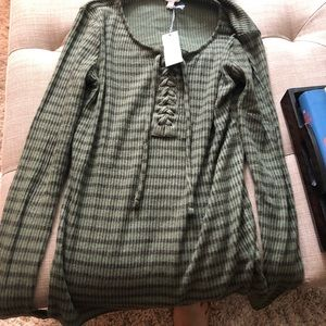 Lucky brand lace up top new with tag XS